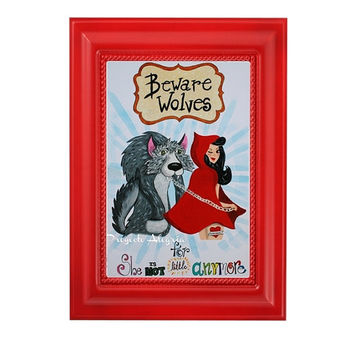 A3 Art Quote Print. Quotes for girls. Red Riding Hood & Wolf Poster