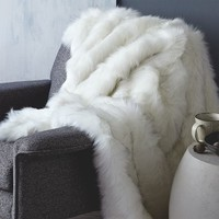 Faux Fur Brushed Tips Throw