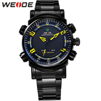 Outdoor Wrist Watch Analog Digital LED Quartz Dual Movement Stainless Steel Band Waterproof Sports Running Watches For Men
