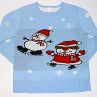 Adult Ugly Christmas Sweater - Wobbly Snowman