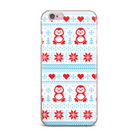 "KESS Original ""Pixel Penguin Holiday"" Christmas Pattern iPhone Case"