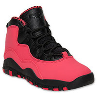 Girls' Preschool Jordan Retro 10 Basketball Shoes
