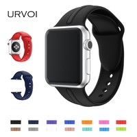 URVOI Sport band for apple watch series 1 2 band Ultraman silicone strap for iWatch workout colors with pin and tuck closure