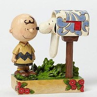 Peanuts by Jim Shore Charlie Brown & Snoopy Mailbox Special Delivery - 4042380