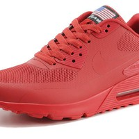 "Nike Air Max 90 Flag ""Triple Red"" Men Women Running Sneaker"