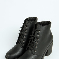 Andrea Lace Up Chunky Ankle Boots