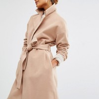 First & I | First & I Wool Belted Coat at ASOS