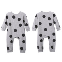 Kids Clothes Cotton Cute Toddler Baby Girls Boys Romper Polka Dot Jumpsuit Children Outfits SM6