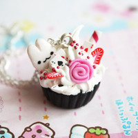 Wonderland Cupcake Necklace - cute gift under 20usd