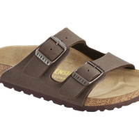 Love Birkenstock Arizona Kids Birko-Flor-Nubuck in Mocca (Classic Footbed - Suede Lined)