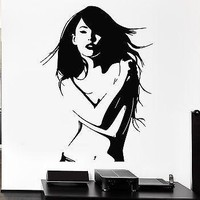 Sexy Woman Wall Stickers Beautiful Girl Naked Model Vinyl Decal Art Mural (ig1354)