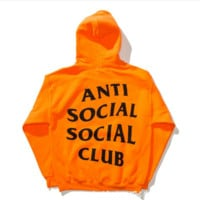 "Fashion print ""Anti Social Social Club""blouse casual hooded sweater (2 color)"