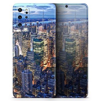 Night Aerial NYC - Skin-Kit for the Samsung Galaxy S-Series S20, S20 Plus, S20 Ultra , S10 & others (All Galaxy Devices Available)