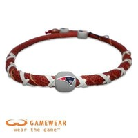 NFL New England Patriots Classic Spiral Football Necklace