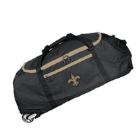 New Orleans Saints 36in Checked-in Rolling Duffel-BLACK