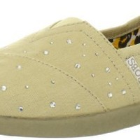BOBS from Skechers Women's World Falling Star Flat,Natural,9 M US