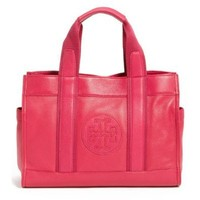 Tory Burch Tory Logo Leather Shoulder Tote Bag in Magenta: Shoes