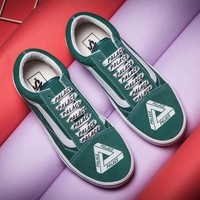 ONETOW Trendsetter Vans X Palace Canvas Old Skool Flats Shoes Sneakers Sport Shoes