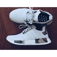 ADIDAS NMD White Contrast Camouflage green Casual Sports Shoes