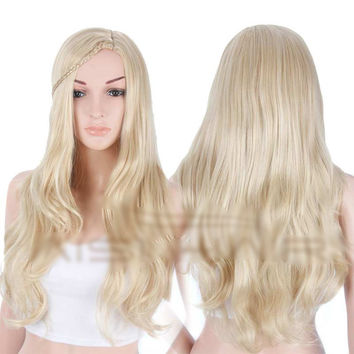 """26"""" Women's Synthetic Blonde Wig"""