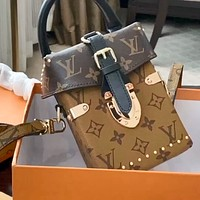 LV Trunk Clutch contrast color mini phone bag
