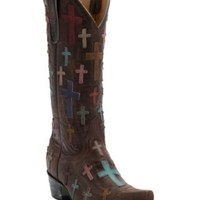 Old Gringo® Women's Ooh My God Distressed Brass with Crosses Snip Toe Western Boots