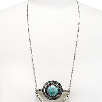 Lucky Brand Turquoise Pendant Necklace | Dillards