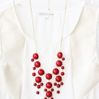 Bubble Necklace - Red