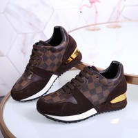 LV Louis Vuitton Women  Fashion Casual Shoes Leather Shoes