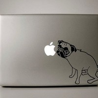 """Pug Decal for 13"""" Macbook"""