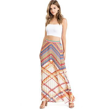Goldie Pleated Maxi Skirt