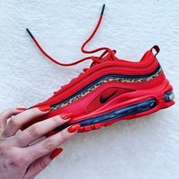 Nike Air Max 97 Leopard Stripes Red Sneakers-1