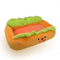 "Kisspet® Hot Dog Design Sofa Pet Bed with Removable Washable Pet Mat Dog House,24"" X 16"" X 8"" (Hot dog bed Style A)"