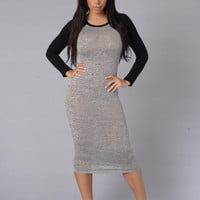 Tee Time Dress - Grey