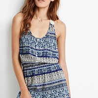 Buttoned Paisley Print Romper