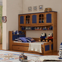 Multifunctional composite solid wood children bed Boy beauty high and low bed with chest desk formula bed wardrobe bed