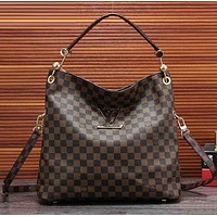 LV Louis Vuitton Women Fashion Leather Satchel Shoulder Bag Handbag Crossbody