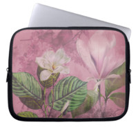 Vintage Magnolia Song Apparel and Gifts Computer Sleeve
