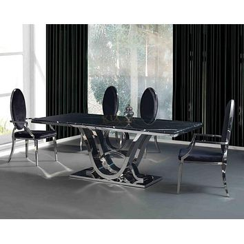 Classic Home Elegance Designed Marble Dining Table and Chairs Set