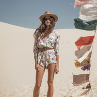 Gypsy Queen Romper - Cream Floral | Spell & the Gypsy Collective