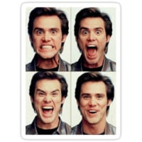 Jim Carrey faces
