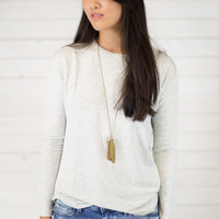 Soft Knit Pullover Top