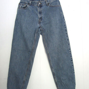 Vtg 550 Levi's High Waisted Tapered Leg Relaxed Fit Mom Jeans Long Denim 30""