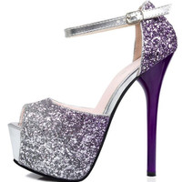 Peep Toe Women Shoes Sexy Party Shiny Glitter High Heels Pumps zapatos mujer