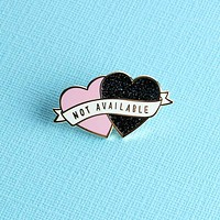 Not Available Heart Enamel Pin