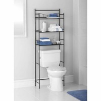 Mainstays 3-Shelf Bathroom Space Saver, Oil Rubbed Bronze - Walmart.com
