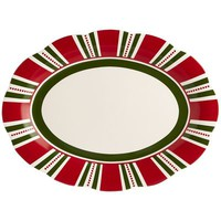 Christmas Stripes Platter