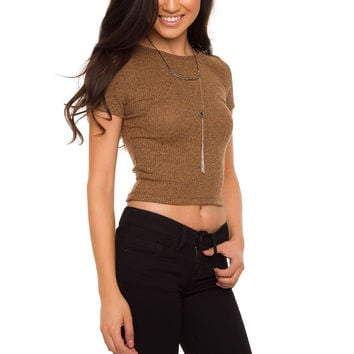 Misha Knit Top - Camel