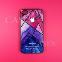 Geometric Iphone 4 4s Case - Colorful Pattern Iphone Case, Iphone 4 4s Case,Rubber Protective Iphone 4s Case