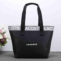 Perfect Lacoste Women Fashion Leather Satchel Shoulder Bag Handbag